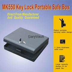 Garyvault MK550 Microvault Key Lock Portable pistol Gun safe box  A4 file