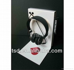 TSD-M032 Eyecatching Metal Earphone Stand/ headphone display/ headset stand