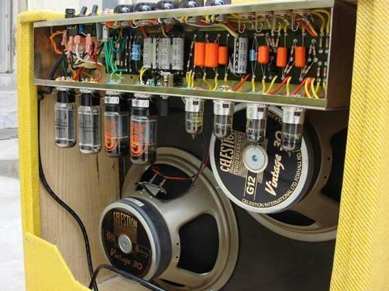 手工搭棚全电子管电吉他音箱40W 2