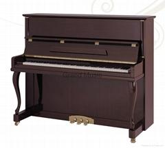 123cm Modern Style Wooden Acoustic Upright Piano Elegant Pianoforte Teakwood Pol