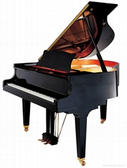 166cm Polished Acoustic Grand Piano / Concert Piano Hydraulic Descent Device And