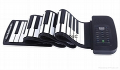 Professional Silicon Rubber Flexible Roll-Up Electronic Piano