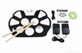 Portable Silicon Foldable Electronic Roll Up Drum Pad Kit with Stick and USB Cab