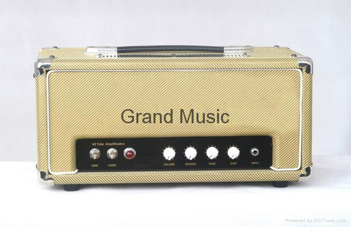 Tube guitar amp head with Reverb, guitar amp heads, guitar amp with reverb