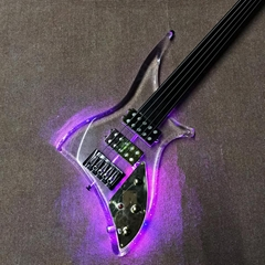Grand LED Acrylic Electric Guitar with Ebony Fingerboard
