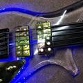 Acrylic Body Maple Neck LED Light Custtom Electric Guitar