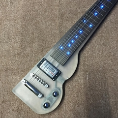High end Quality Acrylic Body LED Light Fretboard Ebony Fretboard Guitar