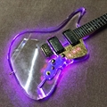 Custom Crystal Body Neck Led Light Electric Guitar