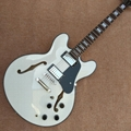 Hollow body jazz electric guitar in