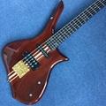 Custom 5 string bass guitar,Ebony Fingerboard,one piece of neck & body