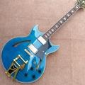 Hollow body jazz electric guitar, Bursting maple top & back Tremolo system guita