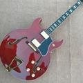Custom L-5 Jazz electric guitar, 2 angle hollow body jazz F hole electric guitar