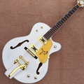hollow body L-5 jazz electric guitar, Gold hardware with Tremolo system