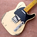 High quality relic remains TELE electric guitar, TELE aged relic electric guitar