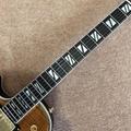 Custom LP left hand electric guitar Double F hole Ebony guitar