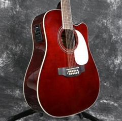 Grand 12 Strings 41'' Electric Acoustic Guitar Solid Spruce With Fishman 101