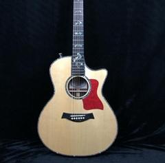 Top Quality Starshine superb Acoustic Guitar 39''Ebony Fingerboard Alalone