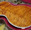 DIY Lp Guitar Kit / Double Tiger Flame Maple Top Supreme Lp Electric Guitar (GLP