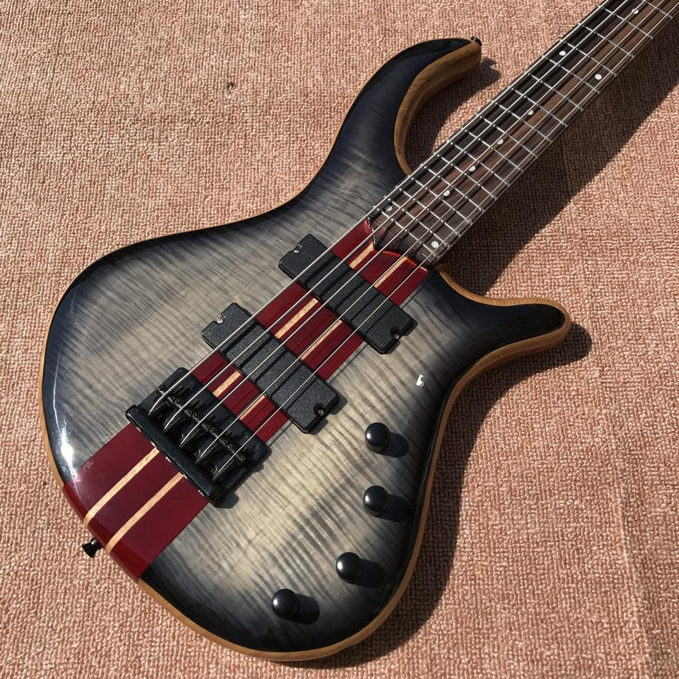 2017 new style high quality custom 5 string bass guitar, Rosewood fingerboard