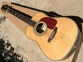 Custom 41 inch 45D 20 frets solid Top Real peral inlay acoustic guitar with colo