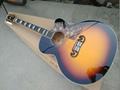 Chibson J200 single cutaway acoustic electric guitar sunburst