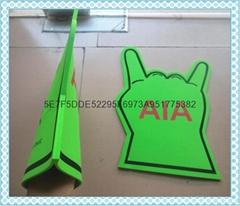EVA finger hand; sponge handle;eva foam big hand