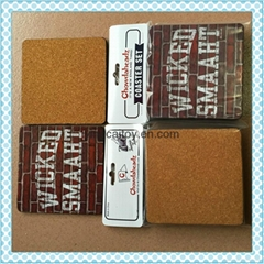 Recyclable cork coaster, mdf coaster