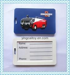 Soft Lugguage Tag;pvc luggage tag
