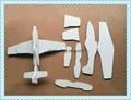 eva立體拼圖 飛機製作模型玩具 儿童手工制做 3d立體拼圖 3