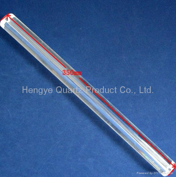 OD 28mm thick wall quartz tube with half moon hole 2