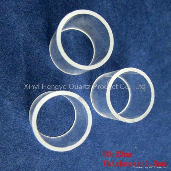 Large diameter clear quartz tube with short length 3