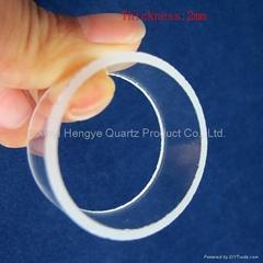 Customized short quartz glass tube for machine parts