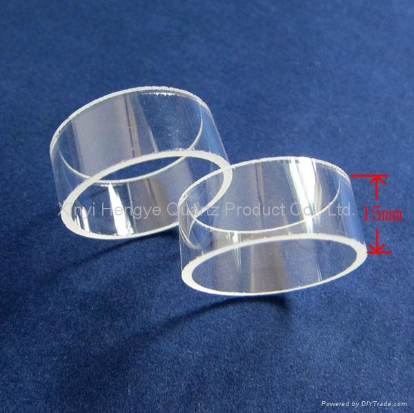Customized short quartz glass tube for machine parts 3