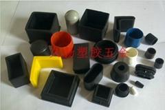 长方管塞塑料堵头家具配件塑胶脚垫管套黑色方管内塞