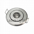 1W LED Recessed Cabinet Light