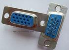 深圳高密度D-SUB15PIN焊线式母头连接器