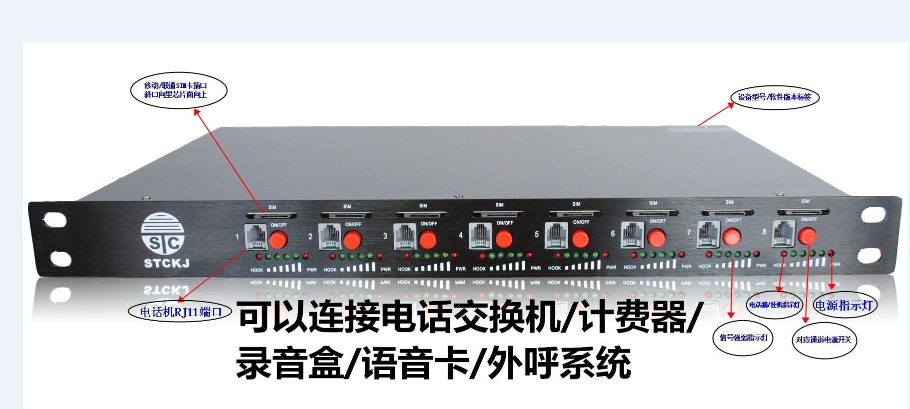 顺天昌WCDMA多路8卡3G高灵敏度无线固话 3