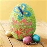 手工珠绣工艺彩蛋
