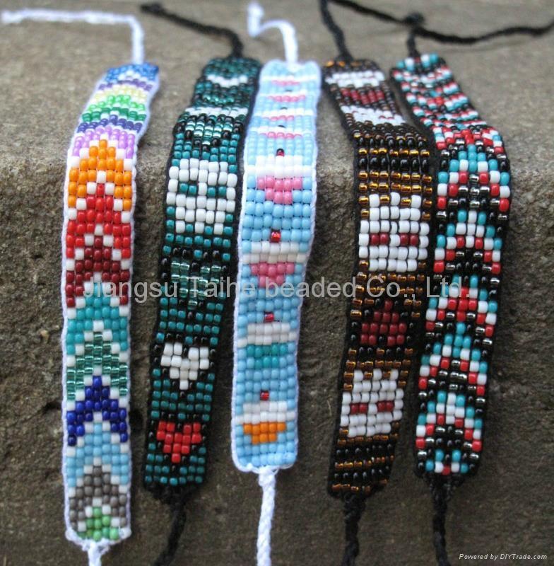 玻璃珠编织手链 1