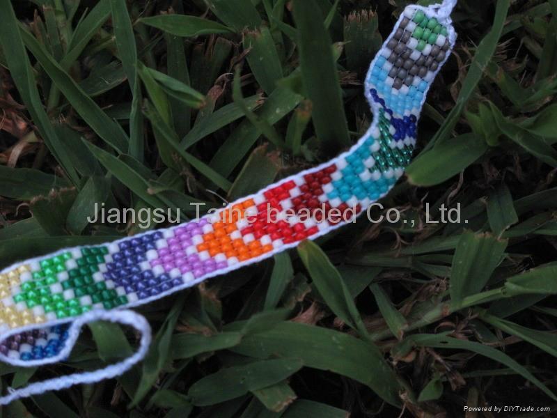 玻璃珠編織手鏈 2