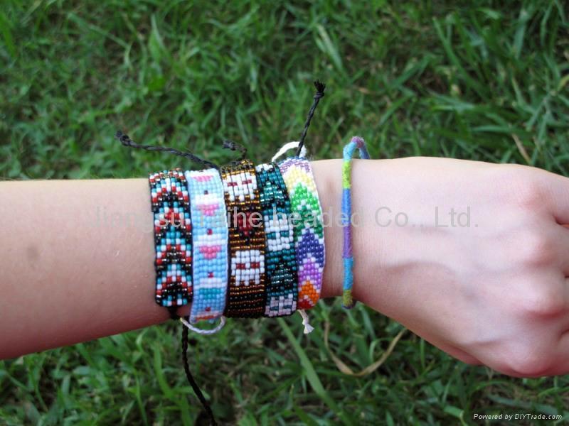 玻璃珠編織手鏈 3