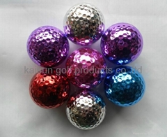 metal color golf ball