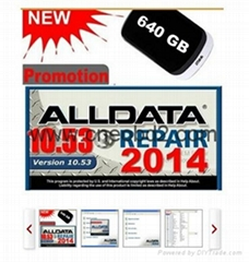 2014 newest ALLDATA10.53  car diagnostic software 10 in 1 with 1000GB Mobile HDD