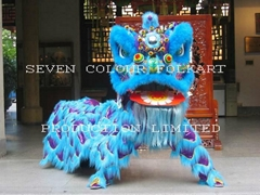 Chinese wool lion dance set in blue