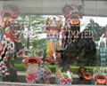 Chinese traditional bristle lion dance set Liu Bei, Guan Yu and Zhang Fei