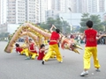 Chinese dragon dance for outdoor