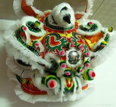 Chinese traditional white lion