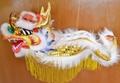 Chinese folkart handicrafts dolls puppet dragon_40x16x20cm