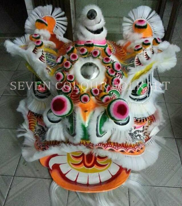 Chinese traditional lion in white colour 1