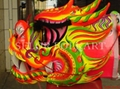 Chinese yellow-golden competition dragon